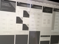 Agency website wireframe
