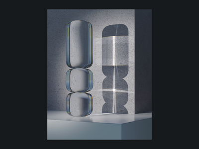 Refraction and Caustics luxcorerender texture concrete glass motion design luxcore experimentation b3d blender3d blender 3d art 3d render 3d experiment caustics refraction