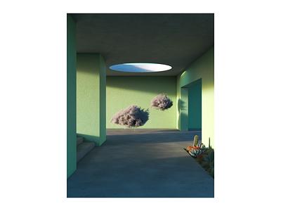 Dreams rendering 3d 3d art cycles render b3d blender3d blender dreamscape dreams clouds interior space architecture