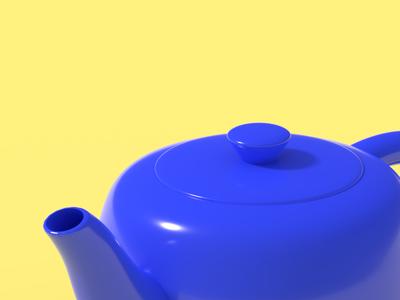 Teapot cycles rendering 3d blender teapot