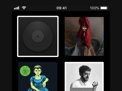 Shellac – Default Album Cover artwork cover album shellac player music ios interface icon app