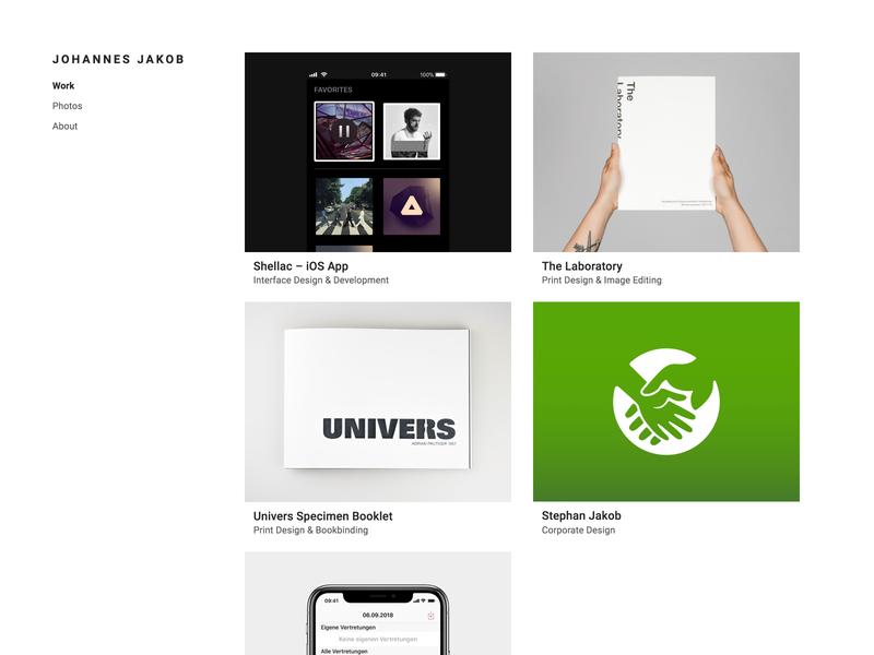 Portfolio Redesign jakob johannes design projects website web redesign portfolio