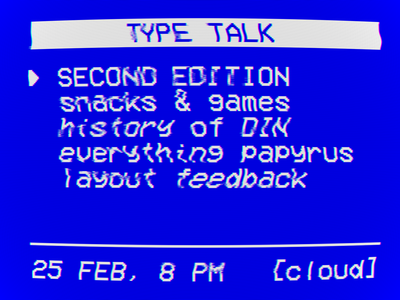type talk second edition poster vhs vcr university students dessau cloud poster typography talk type type talk