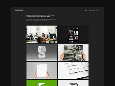 Website Redesign – Dark Mode dark dark mode website design web design redesign portfolio website