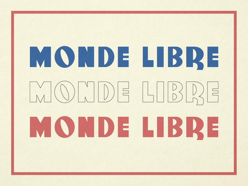 Monde Libre typeface typography font family 1940s 40s postwar post-war french france paris fontself type typefaces letters lettering font fonts typography design typographic typeface