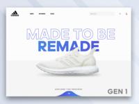 Adidas Purecraft Web Design