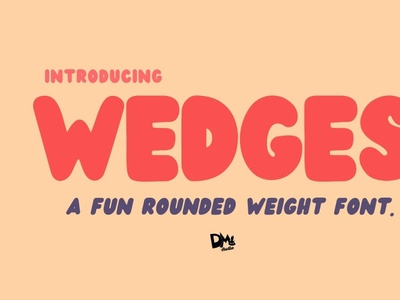 Wedges - Rounded Font