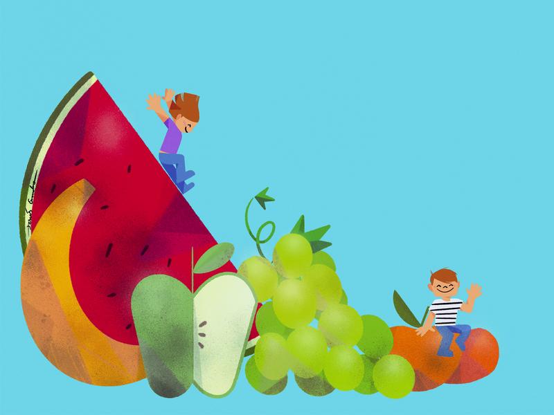 fruitjesusescudero healthfood childrens book fruit food healthy health childrens illustration characterdesign illustration