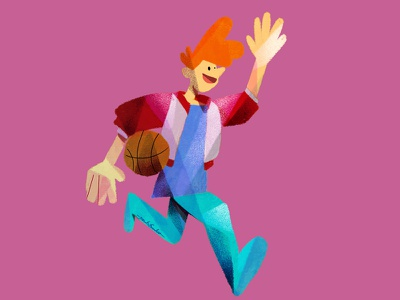 Basketboy run sport player jesusescuderoiluustration illustration characterdesign character