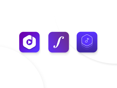 • Classical Icon App • iconography ios classical app classical music violet gradient branding logo illustration icons iconart iconapp app visual design ui