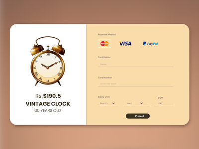 #DailyUI art direction ui design checkout credit card
