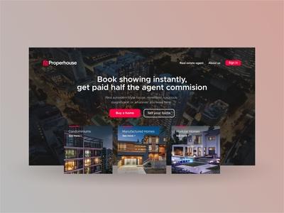 Properhouse Landing Page Design