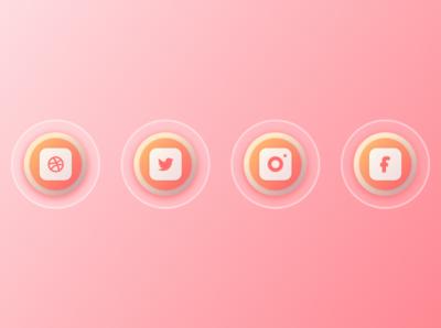 Social Icon app design ux ui