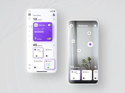 Smarthome Concept ! Mobile App ui design app