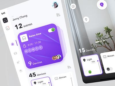 Smarthome Concept ! Mobile App 2 ui design app