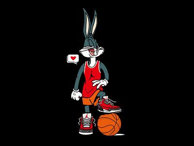BUG Bunny x Air Jordan 3 Chi artwork illustration streetwear branding vector graphic design logo clothing cartoon illustration cartoon bugs looney tunes