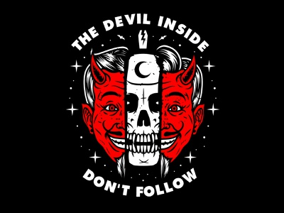 The Devil Inside branding vector skull artwork illustration streetwear graphic apparel design logo clothing