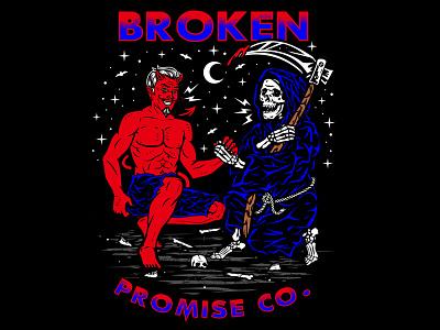 Partner In Crime cult satanic grimreaper evil artwork illustration streetwear vector graphic apparel design logo clothing