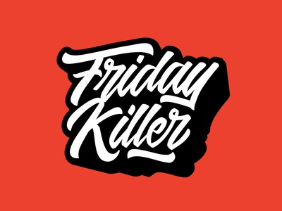 Friday Killer ux ui flat branding vector typography graphic design logo clothing