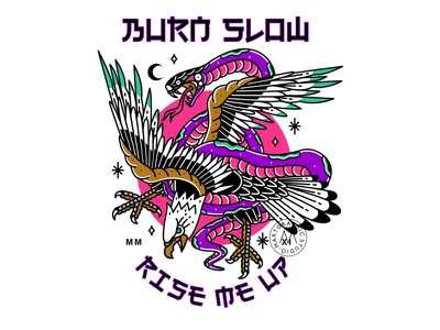 Eagle Snake snake eagle artwork graphic apparel streetwear branding design illustration identity clothing
