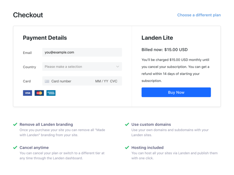 SaaS Checkout minimal dashboard checkout page form pay ui saas checkout