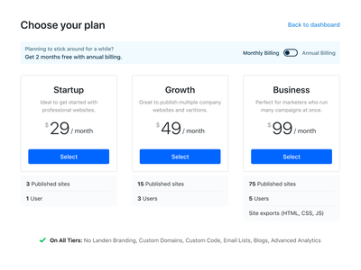 Choose your plan webapp minimal ui dashboard pay upgrade buy plan checkout