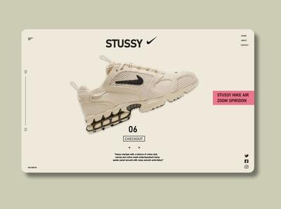 Stussy Nike zoom simple Landing page ux design ui  ux uidesign web adobe uidesigner ux product design ui design design ui