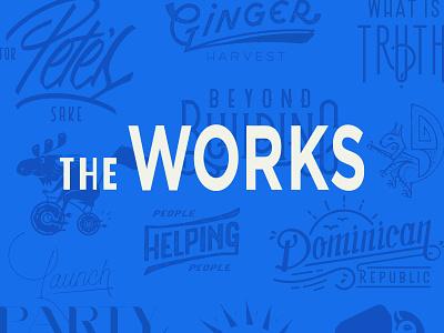 The Works design texture vector illustration lettering