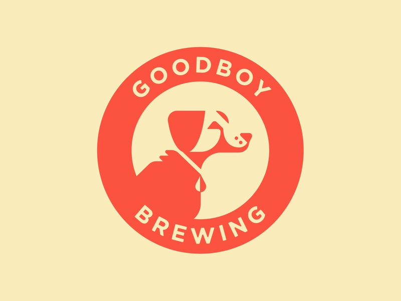 Goodboy Brewing vector design identity brewing dog identity design brand design brand identity branding beer illustration logo type