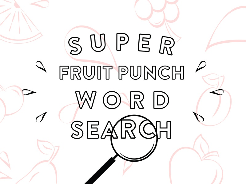 Fruit Punch coloring coloring page kids vector illustration type typography