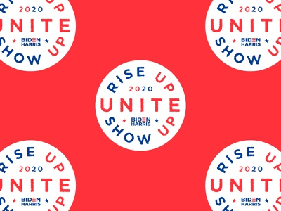 Unite riseupshowupunite usa bidenharris vector texture typography type 2020 election political vote