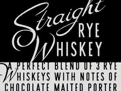 Straight Rye Whiskey illustrator whiskey design texture lettering vector type typography