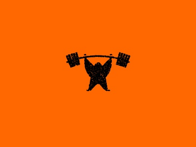 Quarantine Strong weights texture vector exercise workout lift strength icon illustration