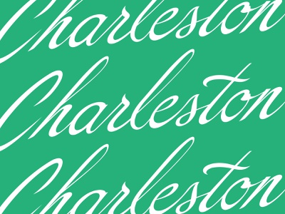 Charleston cursive vector script lettering type