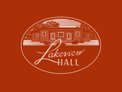 Lakeview Hall Signage design vector outdoors state park cabin illustration lettering signage sign
