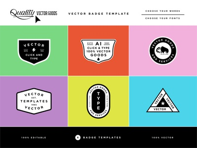 Vector Badge Templates mockup product creative market template badge patch typography type design vector