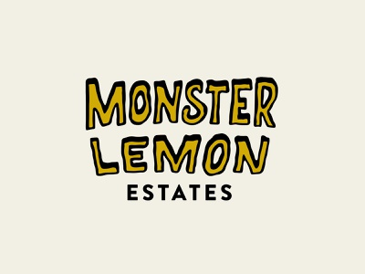 Monster Lemon design branding vector type typography