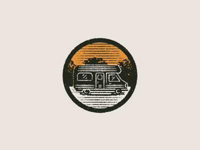 Camping Illustration pt. II nature rv camping outdoors icon design texture illustration vector