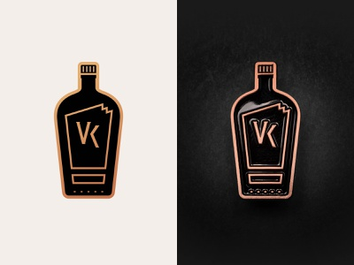 VK Enamel Pin bottle icon design vector enamel pin bourbon whiskey