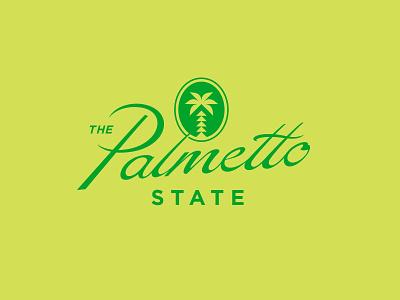 The Palmetto State south carolina palmetto tree script design lettering vector typography type