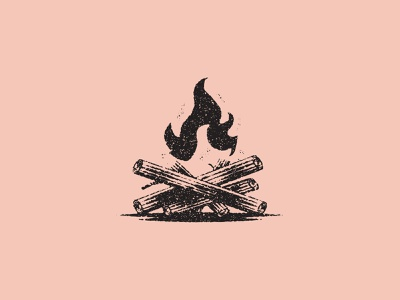 Camp Fire camping fire icon design texture illustration vector