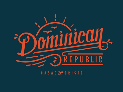 Dominican Republic sun beach dominican republic typography lettering brand development