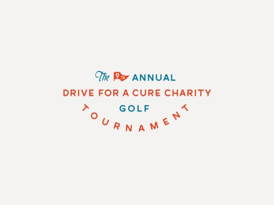 Drive for a Cure charity event typography type diabetes cause golf