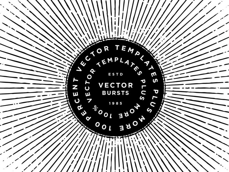 Vector Goodies type template custom texture design studio design designer product illustrator adobe vector burst templates