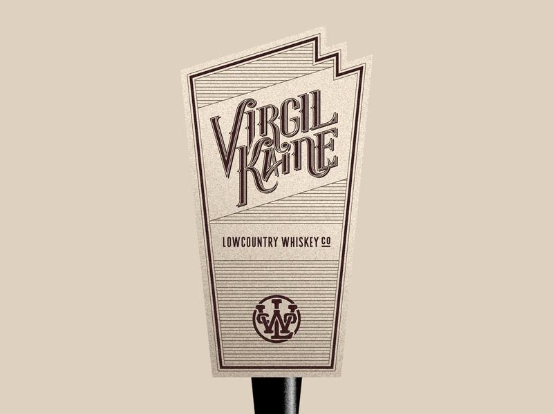 VK Tap Handle bar cocktail tap handle spirits liquor bourbon design whiskey brand development lettering branding type