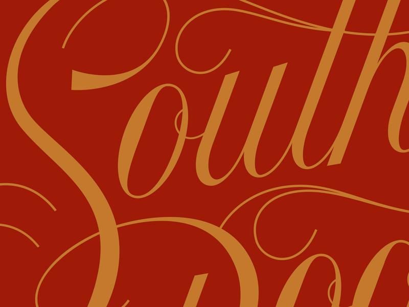 Southern Lettering letters cursive flourishes flourish script lettering type