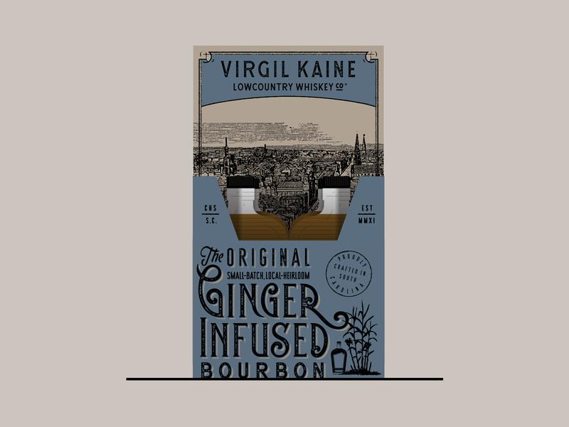 100ml Packaging mockup ginger liquor spirits bourbon whiskey box packaging lettering typography type