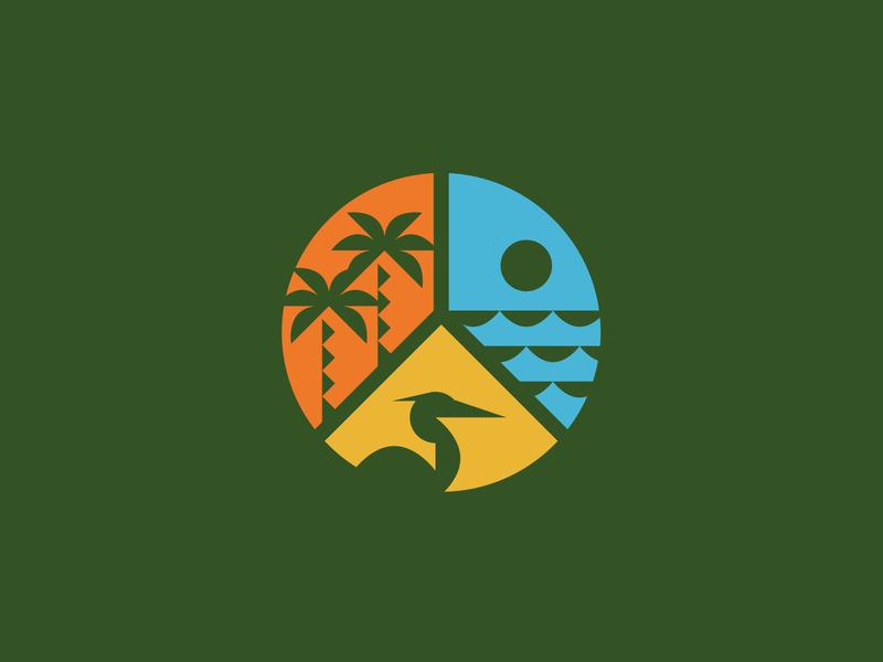 Environmental Learning Center vector design wildlife nature state park environmental learning illustration coastal identity logo branding icons icon