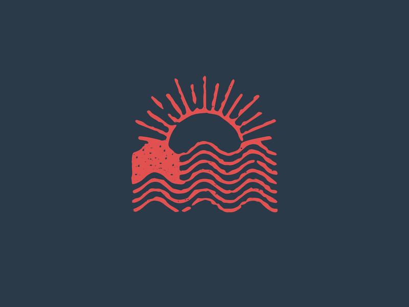 Ripple Effect sun american flag usa country patriotic water ripple memorial flag illustration