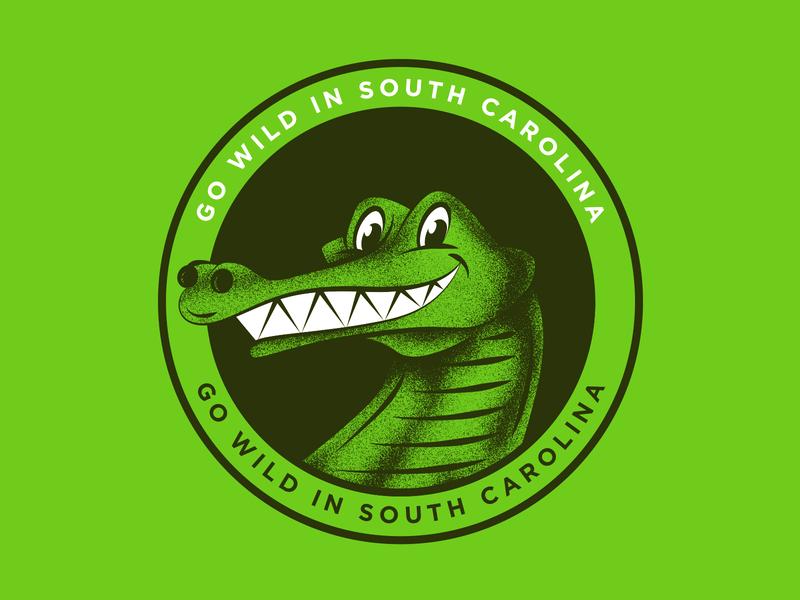 Go Wild Stickers pt.2 stickers sticker animal nature outdoors alligator gator wildlife wild illustration texture hand drawn vintage